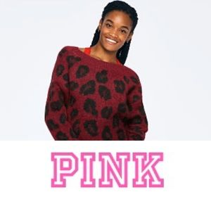 Victoria's Pink REVERSIBLE V CREW SWEATER